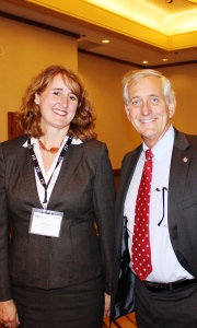 "Portland Mayor Charlie Hales (with Cascade Chapter's Patty Unfred) welcomed everyone to the ""Birthplace of P2""."