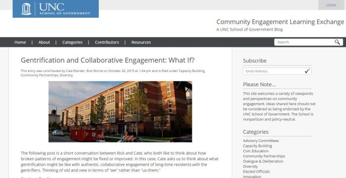 CELE - The Community Engagement Learning Exchange