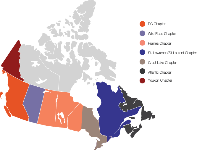 IAP2 Canada Chapter Map